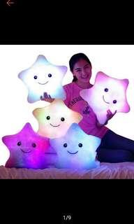 LED Light Luminous Star Cushion Pillow Plush Toy