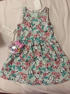 H&M Baby Dress (with Hello Kitty Accessories Set)