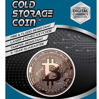 BITCOIN Cold Storage Coin (copper)