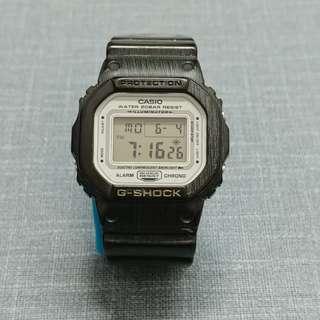中古 限定版 G-shock 5600 白面 錶 Casio Japan