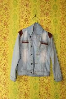 Jaket jeans asli tebel