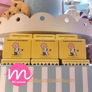 USJ Snoopy Charlie曲奇小食鐵盒