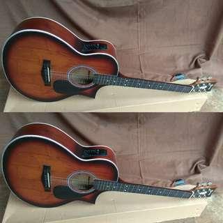 Gitar jumbo akustik elektrik