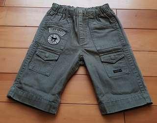 🚚 Miki House Double B復古泛白設計男童褲