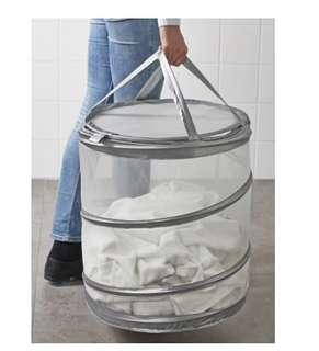 IKEA 洗衣籃 收納 實用 方便 可折疊