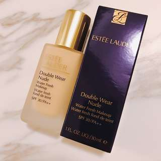 Hkd$280 Estee Lauder double wear nude water fresh makeup foundation 持久粉底液 30ml 貨裝 (5個色都可訂)