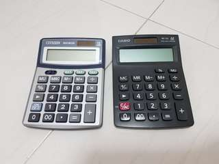 Citizen and Casio 12 Digits Calculators