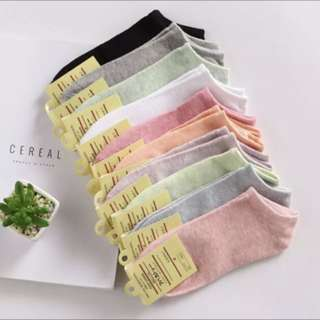 10 pairs socks / different colours / Ladies socks / Free mailing