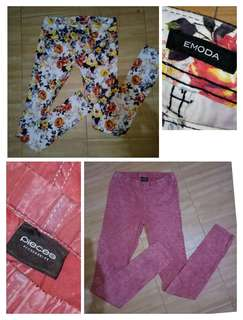 Buy 1 Get 1 Emoda Floral Pants & Pieces Acid Wash Stretcheable Pants