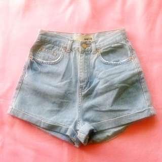 topshop moto highwaist shorts