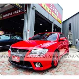 專辦全額貸 零元可交車 2011 三菱汽車 FORTIS  1.8 紅色 自排