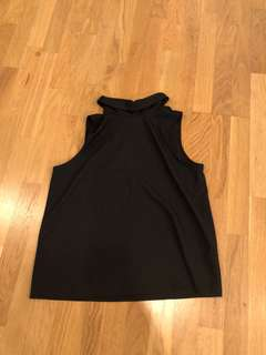 High neck mirrou top