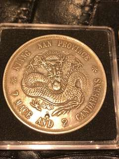 Rare China Kiangnan silver dollar coin - for sharing only