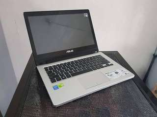 asus tp300l 14inch 360 degrees touch 13 4gen 500gb 4gbram 2gb nvidia 820m