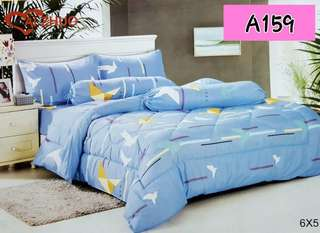 FITTED BEDSHEET SET WITH COMFORTER