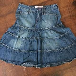 Mango MNG jeans denim skirt size USA 1