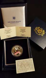 50th Anniversary of the Formation of Malaysia, Colored Silver Commemorative Coin (proof)