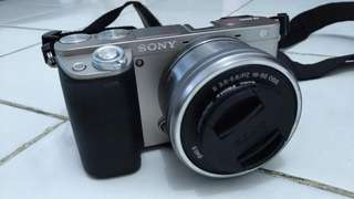 JUAL SONY MIRRORLESS A6000 + KIT 16-50MM OSS SILVER