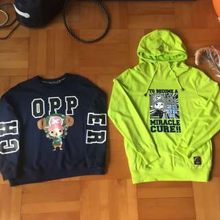 海賊王索柏衛衣One piece chopper hoodie sweater