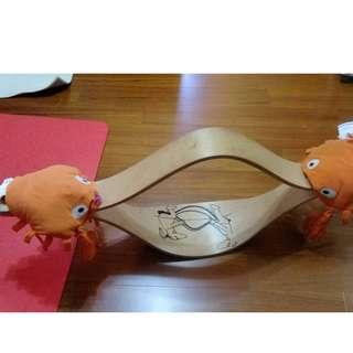 ikea 絕版蹺蹺板 附螃蟹椅墊