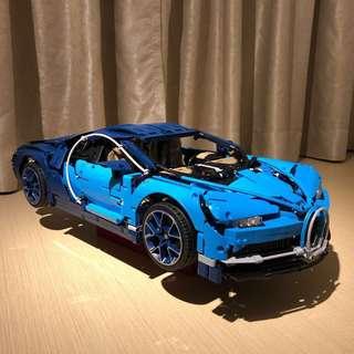 LEGO's Bugatti's Chiron Assembled