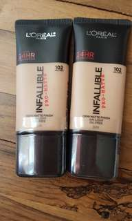 Loreal Infallible Pro Matte shade 102 30ml