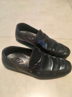 TODS dark brown men's  leather shoes