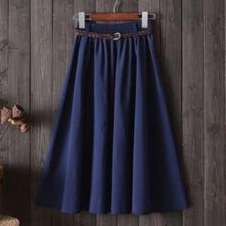 78062 Korean Style Long Skirt