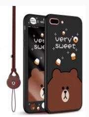 全新iPhone 7/8 plus 360度矽膠全包軟手機殼(黑熊款)