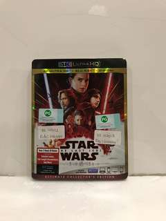 STAR WARS THE LAST JEDI 4K ULTRA HD+BLU RAY+DIGITAL