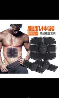 🚚 肌健身器 腹部貼 鍛煉儀 智慧健身儀 懶人電刺激肌肉 美體塑型器 男女通用專業增肌 腹肌貼 智能腹肌器