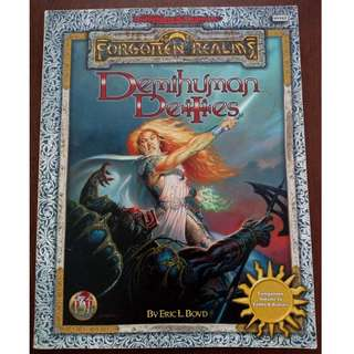 Ad&d 2nd Edition TSR Forgotten Realms Demihuman Deities Accessory Book