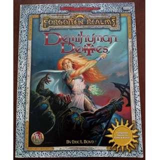 Ad&d 2nd Edition TSR Forgotten Realms Demihuman Deities Accessory Book
