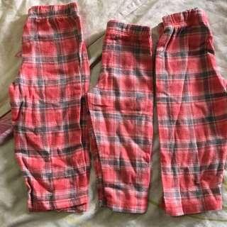 Bundle of Unused Kids Pyjamas Pants 2-3Y