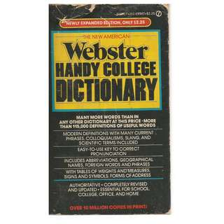 Webster Handy College Dictionary