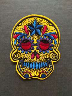 Dead Sugar Skull Decorate Iron On Patch
