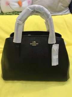 Coach黑色皮手挽袋、斜背兩用包