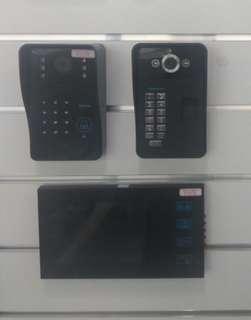 Video Intercom System w/ Door Access password rfid biometric