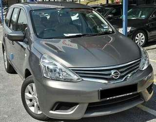 SAMBUNG BAYAR/CONTINUE LOAN  NISSAN GRAND LIVINA 1.6 AUTO YEAR 2017 MONTHLY RM 1160 BALANCE 8 YEARS ROADTAX VALID FULL SPEC LEATHER SEAT RADIO TOUCH SCREEN  DP KLIK wasap.my/60133524312/livina