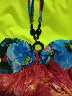 Coco Cabana Floral Halter Maxi Dress