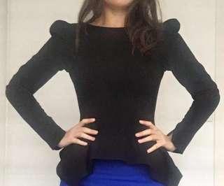 Gorgeous Sheike Black Work Top - Size 6/8