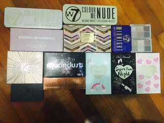 MASSIVE EYESHADOW PALETTES CLEARANCE