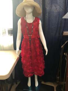 Red gown for kids 6-8 years old