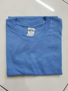 Baju Tshirt Unisex biru muda size XS only