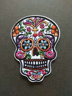 Flowers Eden Sugar Skull Iron On Patch