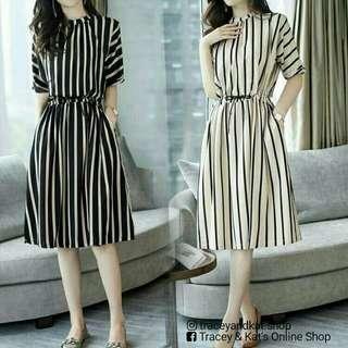 Korean Stripe Dress