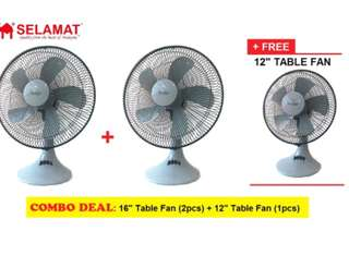 Table fan combo
