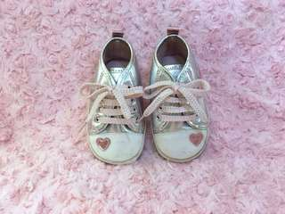 Silver with baby pink shoelace