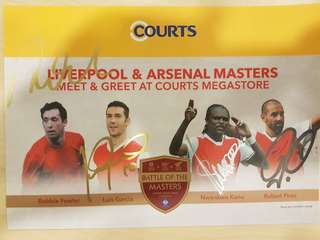 Liverpool & Arsenal Masters 2017 (A5 Poster)