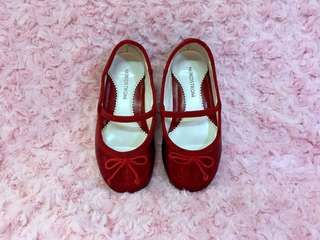 Nordstrom (red glitter flats)